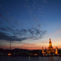 Sunset over Wat Arun in Bangkok