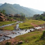 Hilltribe Village in Luang Nam Tha Laos