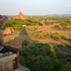 View of Bagan from Shwesandaw Pagoda