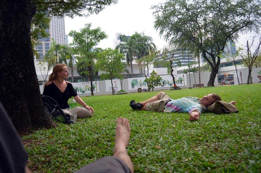 Resting in Lumpini