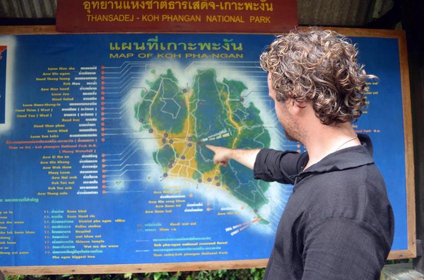 Map of Koh Phangan