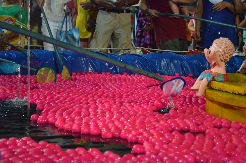 pink carnival balls
