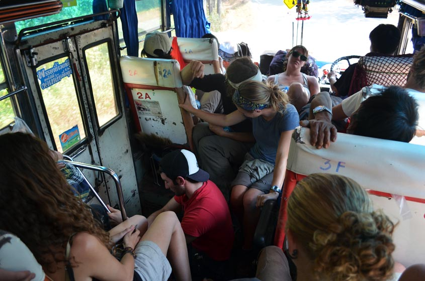 cramped local bus