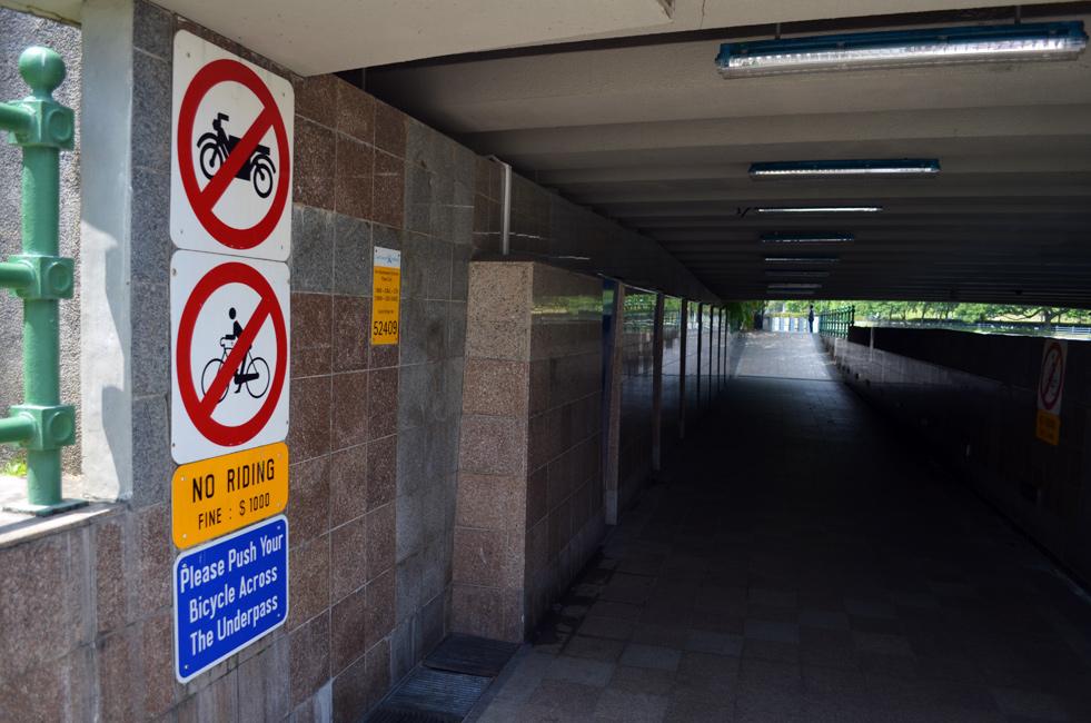No Motorbike Allowed Singapore